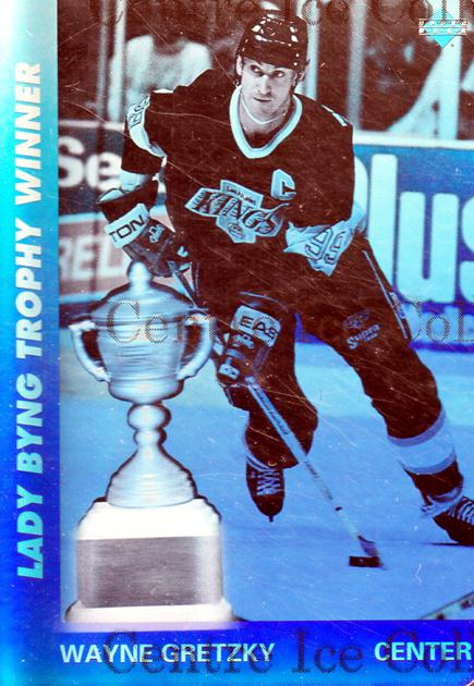 1991-92 Upper Deck Czech World Juniors Wayne Gretzky Holograms #1 Wayne Gretzky, Lady Byng Trophy<br/>4 In Stock - $5.00 each - <a href=https://centericecollectibles.foxycart.com/cart?name=1991-92%20Upper%20Deck%20Czech%20World%20Juniors%20Wayne%20Gretzky%20Holograms%20%231%20Wayne%20Gretzky,%20...&quantity_max=4&price=$5.00&code=303834 class=foxycart> Buy it now! </a>