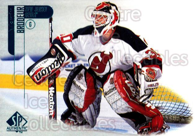 1998-99 Sp Authentic #48 Martin Brodeur<br/>7 In Stock - $2.00 each - <a href=https://centericecollectibles.foxycart.com/cart?name=1998-99%20Sp%20Authentic%20%2348%20Martin%20Brodeur...&price=$2.00&code=303838 class=foxycart> Buy it now! </a>