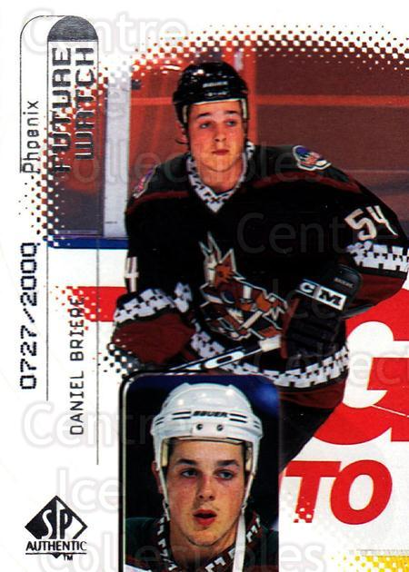 1998-99 Sp Authentic #104 Daniel Briere<br/>1 In Stock - $3.00 each - <a href=https://centericecollectibles.foxycart.com/cart?name=1998-99%20Sp%20Authentic%20%23104%20Daniel%20Briere...&quantity_max=1&price=$3.00&code=303841 class=foxycart> Buy it now! </a>