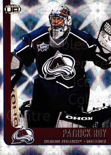 2001-02 Heads-Up #25 Patrick Roy<br/>3 In Stock - $5.00 each - <a href=https://centericecollectibles.foxycart.com/cart?name=2001-02%20Heads-Up%20%2325%20Patrick%20Roy...&quantity_max=3&price=$5.00&code=303845 class=foxycart> Buy it now! </a>