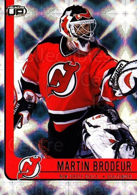 2001-02 Heads-Up #56 Martin Brodeur<br/>2 In Stock - $2.00 each - <a href=https://centericecollectibles.foxycart.com/cart?name=2001-02%20Heads-Up%20%2356%20Martin%20Brodeur...&quantity_max=2&price=$2.00&code=303852 class=foxycart> Buy it now! </a>