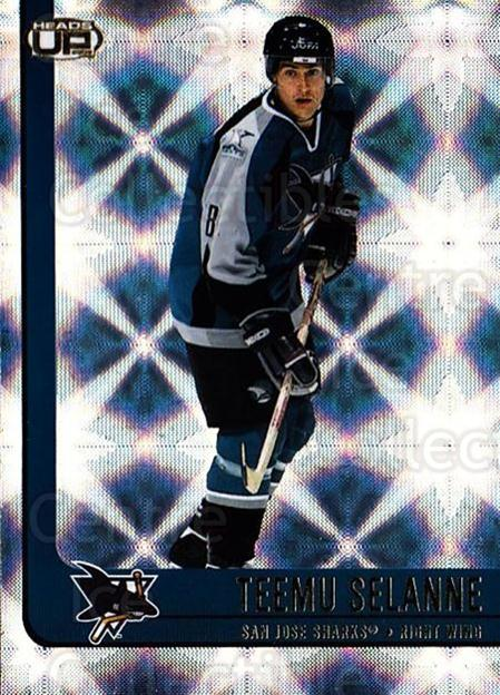 2001-02 Heads-Up #85 Teemu Selanne<br/>3 In Stock - $2.00 each - <a href=https://centericecollectibles.foxycart.com/cart?name=2001-02%20Heads-Up%20%2385%20Teemu%20Selanne...&quantity_max=3&price=$2.00&code=303855 class=foxycart> Buy it now! </a>