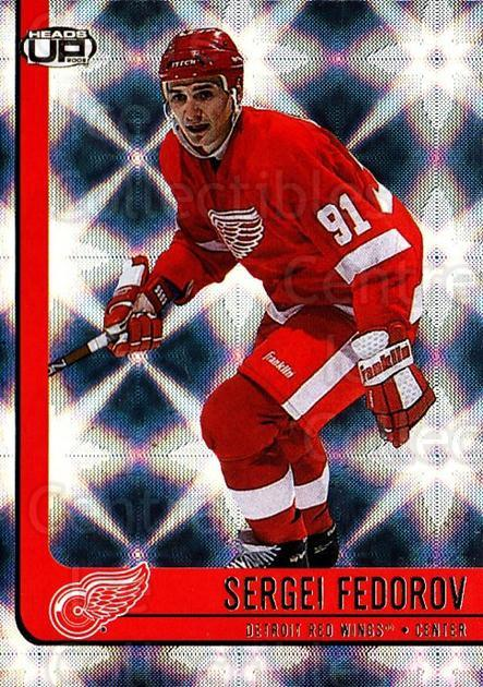 2001-02 Heads-Up #34 Sergei Fedorov<br/>3 In Stock - $2.00 each - <a href=https://centericecollectibles.foxycart.com/cart?name=2001-02%20Heads-Up%20%2334%20Sergei%20Fedorov...&quantity_max=3&price=$2.00&code=303863 class=foxycart> Buy it now! </a>