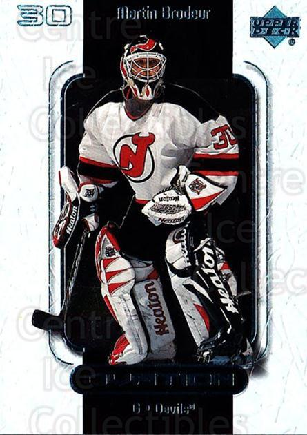 1999-00 UD Ovation #33 Martin Brodeur<br/>2 In Stock - $2.00 each - <a href=https://centericecollectibles.foxycart.com/cart?name=1999-00%20UD%20Ovation%20%2333%20Martin%20Brodeur...&quantity_max=2&price=$2.00&code=303865 class=foxycart> Buy it now! </a>