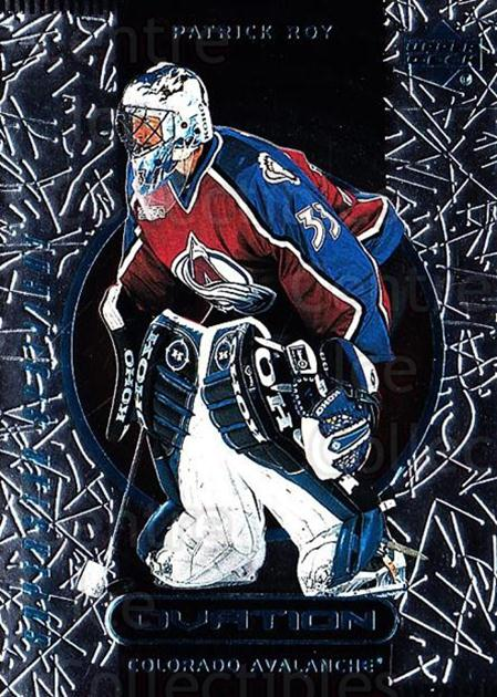 1999-00 Upper Deck Ovation #86 Patrick Roy<br/>5 In Stock - $5.00 each - <a href=https://centericecollectibles.foxycart.com/cart?name=1999-00%20Upper%20Deck%20Ovation%20%2386%20Patrick%20Roy...&price=$5.00&code=303870 class=foxycart> Buy it now! </a>