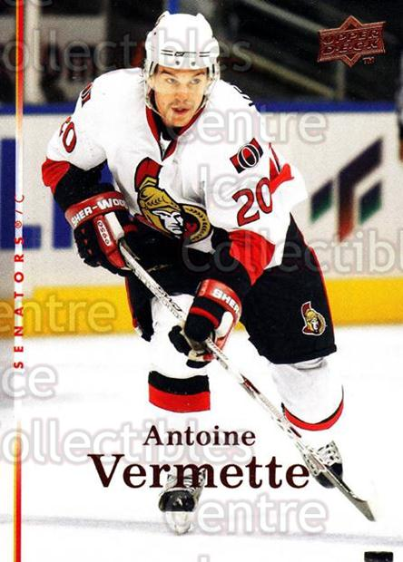 2007-08 Upper Deck #393 Antoine Vermette<br/>13 In Stock - $1.00 each - <a href=https://centericecollectibles.foxycart.com/cart?name=2007-08%20Upper%20Deck%20%23393%20Antoine%20Vermett...&quantity_max=13&price=$1.00&code=303925 class=foxycart> Buy it now! </a>