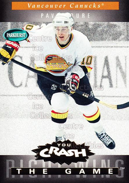 1994-95 Parkhurst Crash the Game Gold #G24 Pavel Bure<br/>8 In Stock - $1.00 each - <a href=https://centericecollectibles.foxycart.com/cart?name=1994-95%20Parkhurst%20Crash%20the%20Game%20Gold%20%23G24%20Pavel%20Bure...&quantity_max=8&price=$1.00&code=304285 class=foxycart> Buy it now! </a>
