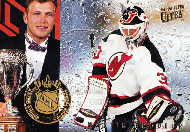 1994-95 Ultra Award Winners #2 Martin Brodeur, Calder Trophy<br/>11 In Stock - $3.00 each - <a href=https://centericecollectibles.foxycart.com/cart?name=1994-95%20Ultra%20Award%20Winners%20%232%20Martin%20Brodeur,...&price=$3.00&code=304373 class=foxycart> Buy it now! </a>