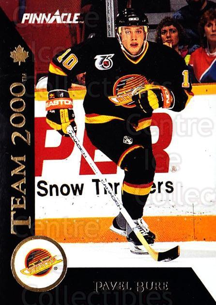 1992-93 Pinnacle Team 2000 French #8 Pavel Bure<br/>3 In Stock - $3.00 each - <a href=https://centericecollectibles.foxycart.com/cart?name=1992-93%20Pinnacle%20Team%202000%20French%20%238%20Pavel%20Bure...&quantity_max=3&price=$3.00&code=304400 class=foxycart> Buy it now! </a>