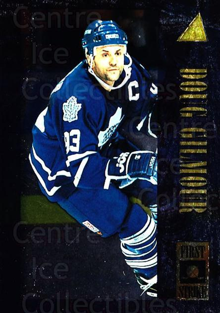 1995-96 Pinnacle First Strike #3 Doug Gilmour<br/>1 In Stock - $3.00 each - <a href=https://centericecollectibles.foxycart.com/cart?name=1995-96%20Pinnacle%20First%20Strike%20%233%20Doug%20Gilmour...&quantity_max=1&price=$3.00&code=304595 class=foxycart> Buy it now! </a>