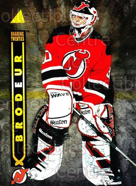 1995-96 Pinnacle Roaring 20s #3 Martin Brodeur<br/>1 In Stock - $5.00 each - <a href=https://centericecollectibles.foxycart.com/cart?name=1995-96%20Pinnacle%20Roaring%2020s%20%233%20Martin%20Brodeur...&price=$5.00&code=304603 class=foxycart> Buy it now! </a>