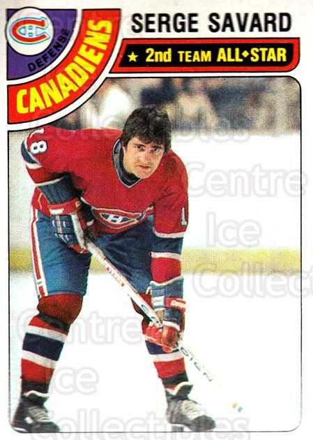 1978-79 Topps #190 Serge Savard<br/>7 In Stock - $2.00 each - <a href=https://centericecollectibles.foxycart.com/cart?name=1978-79%20Topps%20%23190%20Serge%20Savard...&quantity_max=7&price=$2.00&code=30467 class=foxycart> Buy it now! </a>