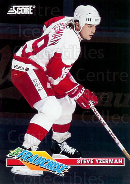 1993-94 Score Franchise #6 Steve Yzerman<br/>7 In Stock - $5.00 each - <a href=https://centericecollectibles.foxycart.com/cart?name=1993-94%20Score%20Franchise%20%236%20Steve%20Yzerman...&price=$5.00&code=304697 class=foxycart> Buy it now! </a>