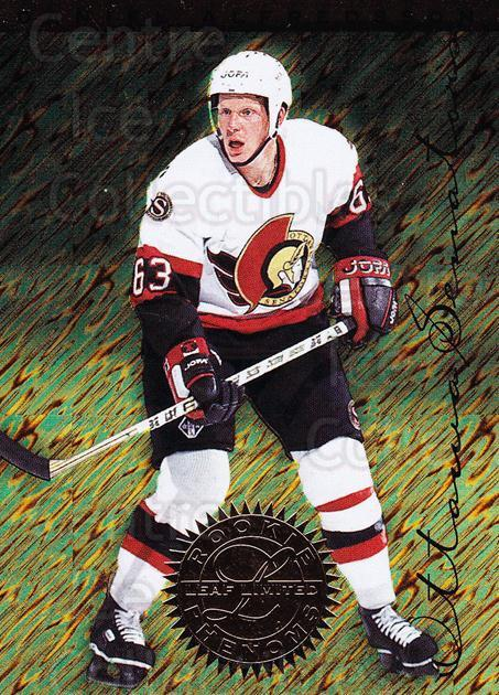 1995-96 Leaf Limited Rookie Phenoms #2 Daniel Alfredsson<br/>1 In Stock - $5.00 each - <a href=https://centericecollectibles.foxycart.com/cart?name=1995-96%20Leaf%20Limited%20Rookie%20Phenoms%20%232%20Daniel%20Alfredss...&quantity_max=1&price=$5.00&code=304726 class=foxycart> Buy it now! </a>