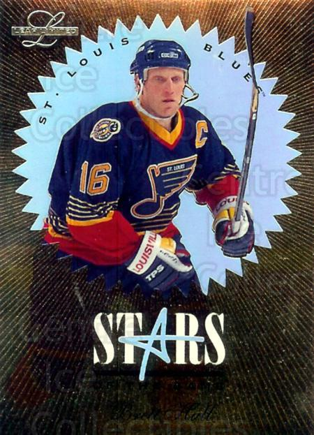 1995-96 Leaf Limited Stars of the Game #10 Brett Hull<br/>3 In Stock - $5.00 each - <a href=https://centericecollectibles.foxycart.com/cart?name=1995-96%20Leaf%20Limited%20Stars%20of%20the%20Game%20%2310%20Brett%20Hull...&price=$5.00&code=304733 class=foxycart> Buy it now! </a>