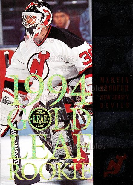 1994-95 Leaf Gold Leaf Rookies #1 Martin Brodeur<br/>1 In Stock - $5.00 each - <a href=https://centericecollectibles.foxycart.com/cart?name=1994-95%20Leaf%20Gold%20Leaf%20Rookies%20%231%20Martin%20Brodeur...&price=$5.00&code=304804 class=foxycart> Buy it now! </a>