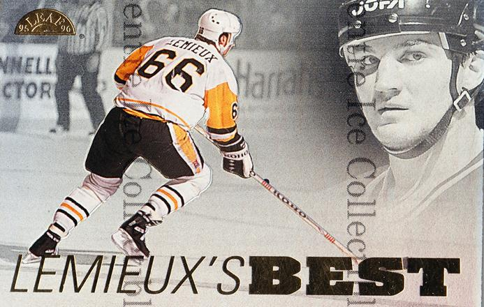 1995-96 Leaf Mario Lemieux Best #6 Mario Lemieux<br/>3 In Stock - $5.00 each - <a href=https://centericecollectibles.foxycart.com/cart?name=1995-96%20Leaf%20Mario%20Lemieux%20Best%20%236%20Mario%20Lemieux...&quantity_max=3&price=$5.00&code=304821 class=foxycart> Buy it now! </a>