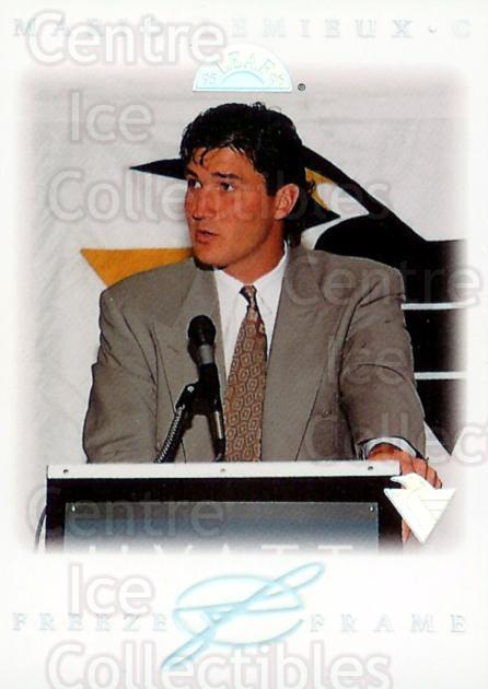 1995-96 Leaf Freeze Frame #7 Mario Lemieux<br/>3 In Stock - $10.00 each - <a href=https://centericecollectibles.foxycart.com/cart?name=1995-96%20Leaf%20Freeze%20Frame%20%237%20Mario%20Lemieux...&price=$10.00&code=304831 class=foxycart> Buy it now! </a>