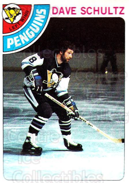 1978-79 Topps #225 Dave Schultz<br/>13 In Stock - $1.00 each - <a href=https://centericecollectibles.foxycart.com/cart?name=1978-79%20Topps%20%23225%20Dave%20Schultz...&quantity_max=13&price=$1.00&code=30487 class=foxycart> Buy it now! </a>
