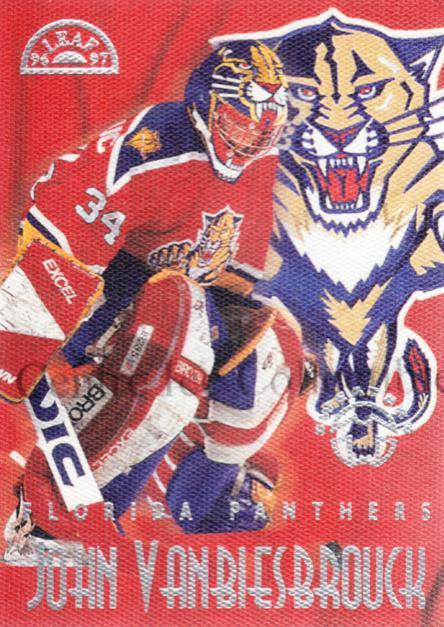 1996-97 Leaf Sweaters Away #4 John Vanbiesbrouck<br/>1 In Stock - $10.00 each - <a href=https://centericecollectibles.foxycart.com/cart?name=1996-97%20Leaf%20Sweaters%20Away%20%234%20John%20Vanbiesbro...&quantity_max=1&price=$10.00&code=304909 class=foxycart> Buy it now! </a>
