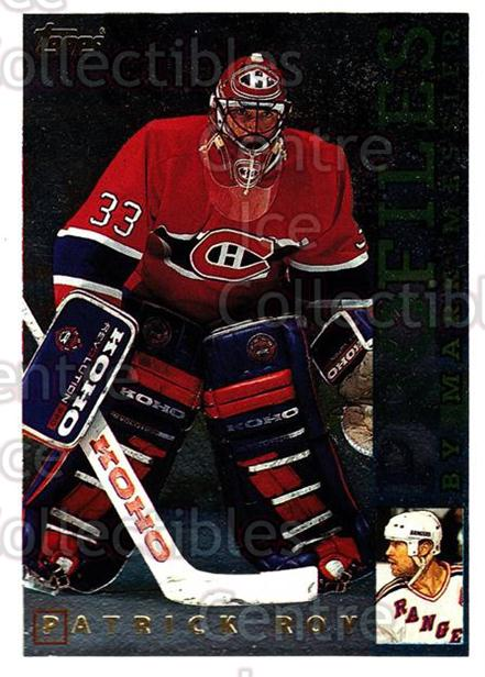 1995-96 Topps Profiles #3 Patrick Roy<br/>4 In Stock - $5.00 each - <a href=https://centericecollectibles.foxycart.com/cart?name=1995-96%20Topps%20Profiles%20%233%20Patrick%20Roy...&price=$5.00&code=304963 class=foxycart> Buy it now! </a>