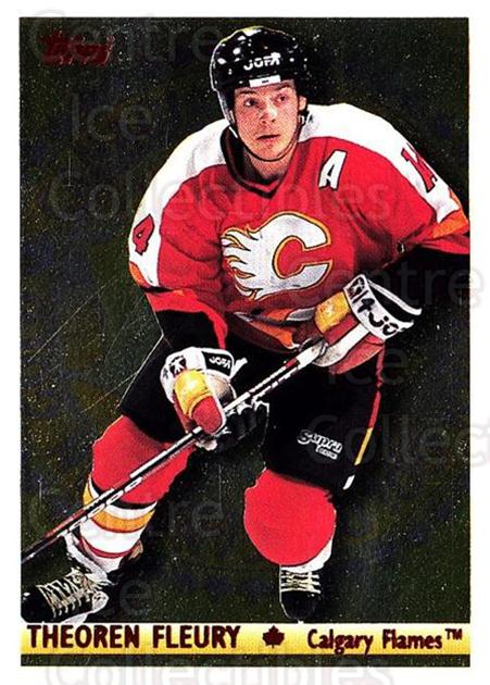1995-96 Topps Canadian Gold #6 Theo Fleury<br/>6 In Stock - $3.00 each - <a href=https://centericecollectibles.foxycart.com/cart?name=1995-96%20Topps%20Canadian%20Gold%20%236%20Theo%20Fleury...&quantity_max=6&price=$3.00&code=304974 class=foxycart> Buy it now! </a>