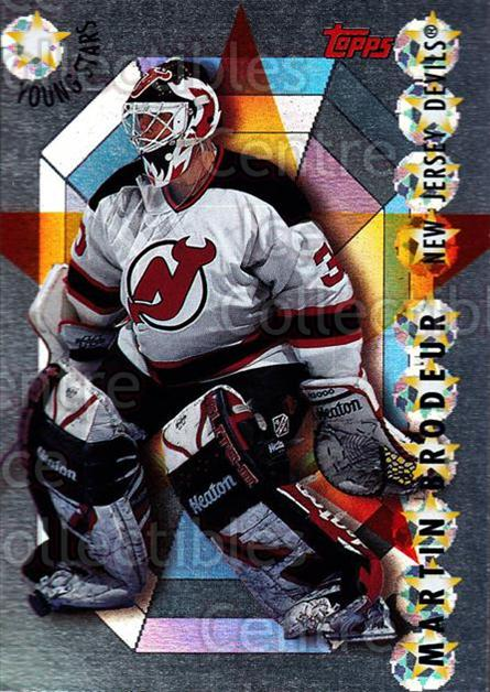 1995-96 Topps Young Stars #2 Martin Brodeur<br/>1 In Stock - $5.00 each - <a href=https://centericecollectibles.foxycart.com/cart?name=1995-96%20Topps%20Young%20Stars%20%232%20Martin%20Brodeur...&price=$5.00&code=304993 class=foxycart> Buy it now! </a>