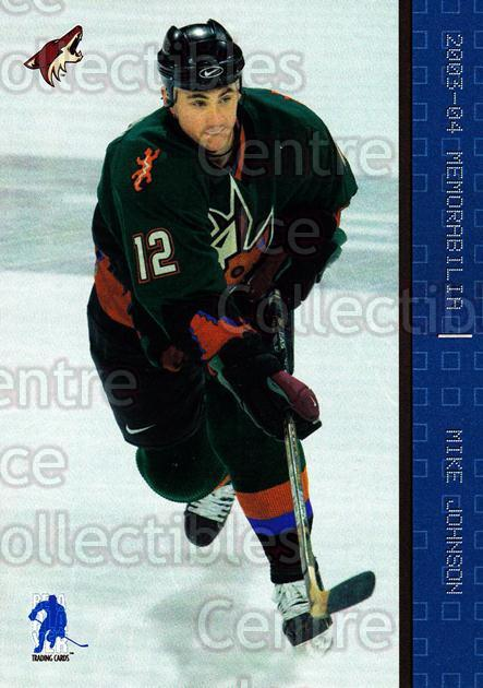 2003-04 BAP Memorabilia Sapphire #56 Mike Johnson<br/>2 In Stock - $5.00 each - <a href=https://centericecollectibles.foxycart.com/cart?name=2003-04%20BAP%20Memorabilia%20Sapphire%20%2356%20Mike%20Johnson...&quantity_max=2&price=$5.00&code=305067 class=foxycart> Buy it now! </a>