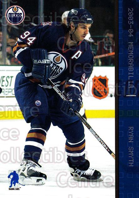 2003-04 BAP Memorabilia Sapphire #79 Ryan Smyth<br/>2 In Stock - $5.00 each - <a href=https://centericecollectibles.foxycart.com/cart?name=2003-04%20BAP%20Memorabilia%20Sapphire%20%2379%20Ryan%20Smyth...&quantity_max=2&price=$5.00&code=305082 class=foxycart> Buy it now! </a>
