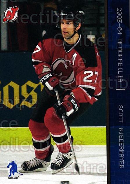 2003-04 BAP Memorabilia Sapphire #83 Scott Niedermayer<br/>4 In Stock - $5.00 each - <a href=https://centericecollectibles.foxycart.com/cart?name=2003-04%20BAP%20Memorabilia%20Sapphire%20%2383%20Scott%20Niedermay...&quantity_max=4&price=$5.00&code=305085 class=foxycart> Buy it now! </a>