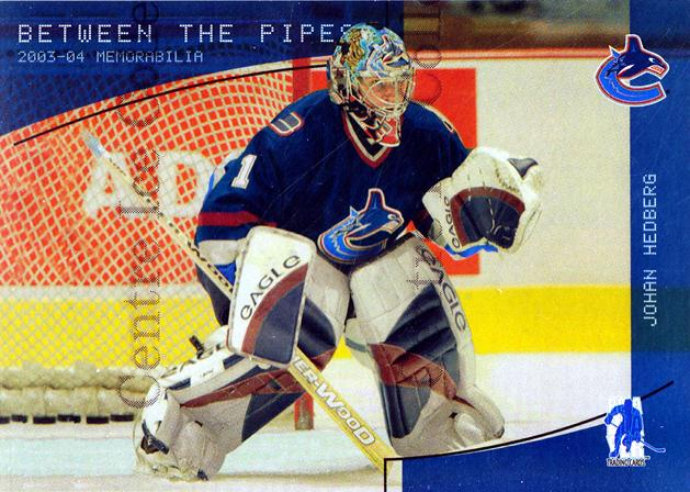 2003-04 BAP Memorabilia Sapphire #127 Johan Hedberg<br/>3 In Stock - $5.00 each - <a href=https://centericecollectibles.foxycart.com/cart?name=2003-04%20BAP%20Memorabilia%20Sapphire%20%23127%20Johan%20Hedberg...&quantity_max=3&price=$5.00&code=305112 class=foxycart> Buy it now! </a>