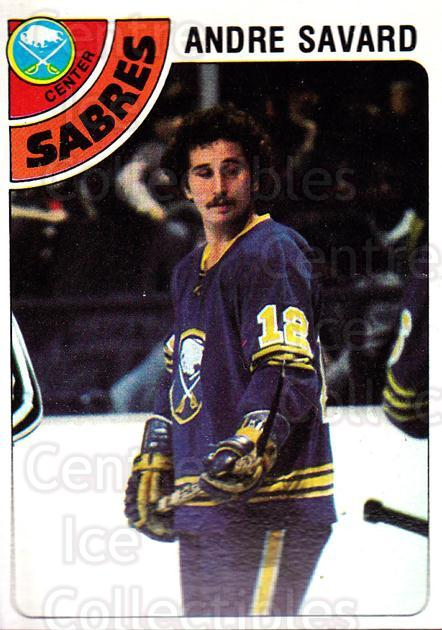1978-79 Topps #253 Andre Savard<br/>12 In Stock - $1.00 each - <a href=https://centericecollectibles.foxycart.com/cart?name=1978-79%20Topps%20%23253%20Andre%20Savard...&quantity_max=12&price=$1.00&code=30516 class=foxycart> Buy it now! </a>