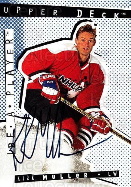 1994-95 Be A Player Auto #40 Kirk Muller<br/>1 In Stock - $5.00 each - <a href=https://centericecollectibles.foxycart.com/cart?name=1994-95%20Be%20A%20Player%20Auto%20%2340%20Kirk%20Muller...&quantity_max=1&price=$5.00&code=305238 class=foxycart> Buy it now! </a>