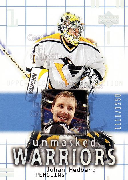 2001-02 UD Mask Collection #186 Johan Hedberg<br/>4 In Stock - $3.00 each - <a href=https://centericecollectibles.foxycart.com/cart?name=2001-02%20UD%20Mask%20Collection%20%23186%20Johan%20Hedberg...&quantity_max=4&price=$3.00&code=305403 class=foxycart> Buy it now! </a>
