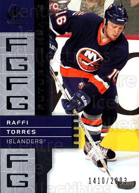 2002-03 Sp Authentic #123 Raffi Tores<br/>6 In Stock - $2.00 each - <a href=https://centericecollectibles.foxycart.com/cart?name=2002-03%20Sp%20Authentic%20%23123%20Raffi%20Tores...&quantity_max=6&price=$2.00&code=305514 class=foxycart> Buy it now! </a>