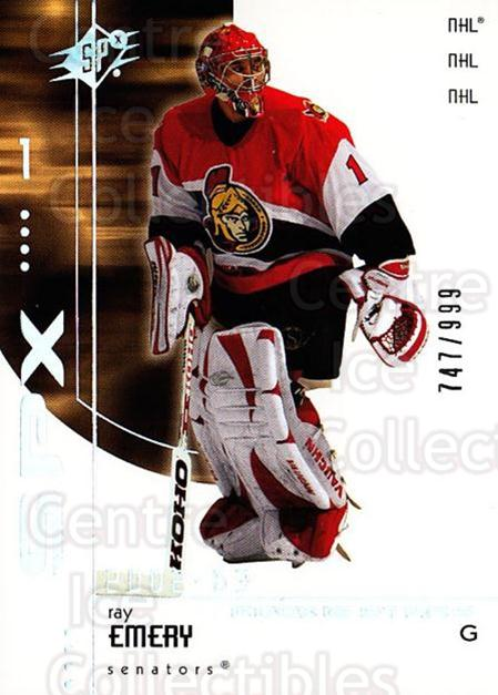 2002-03 SPx #181 Ray Emery<br/>1 In Stock - $5.00 each - <a href=https://centericecollectibles.foxycart.com/cart?name=2002-03%20SPx%20%23181%20Ray%20Emery...&quantity_max=1&price=$5.00&code=305536 class=foxycart> Buy it now! </a>
