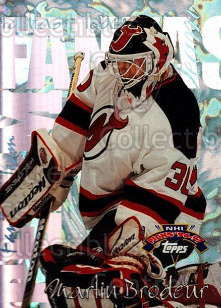 1996-97 Topps Picks Fantasy Team #3 Martin Brodeur<br/>8 In Stock - $3.00 each - <a href=https://centericecollectibles.foxycart.com/cart?name=1996-97%20Topps%20Picks%20Fantasy%20Team%20%233%20Martin%20Brodeur...&price=$3.00&code=305610 class=foxycart> Buy it now! </a>