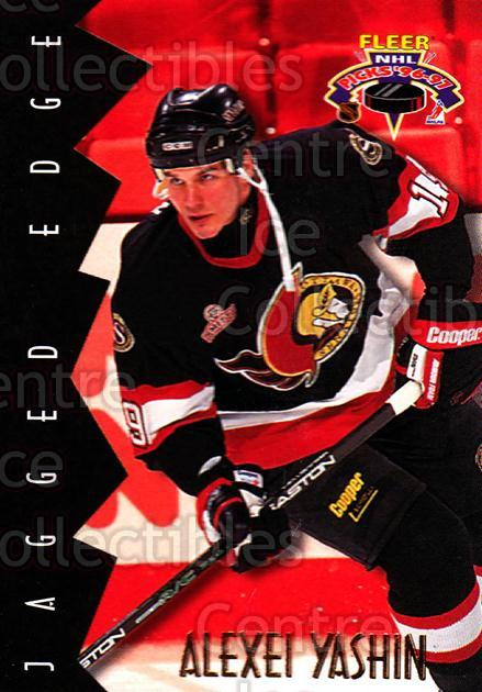 1996-97 Fleer Picks Jagged Edge #5 Alexei Yashin<br/>4 In Stock - $2.00 each - <a href=https://centericecollectibles.foxycart.com/cart?name=1996-97%20Fleer%20Picks%20Jagged%20Edge%20%235%20Alexei%20Yashin...&quantity_max=4&price=$2.00&code=305627 class=foxycart> Buy it now! </a>