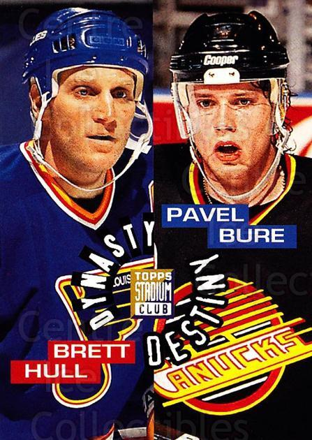 1994-95 Stadium Club Dynasty and Destiny #3 Pavel Bure, Brett Hull<br/>4 In Stock - $5.00 each - <a href=https://centericecollectibles.foxycart.com/cart?name=1994-95%20Stadium%20Club%20Dynasty%20and%20Destiny%20%233%20Pavel%20Bure,%20Bre...&quantity_max=4&price=$5.00&code=305769 class=foxycart> Buy it now! </a>