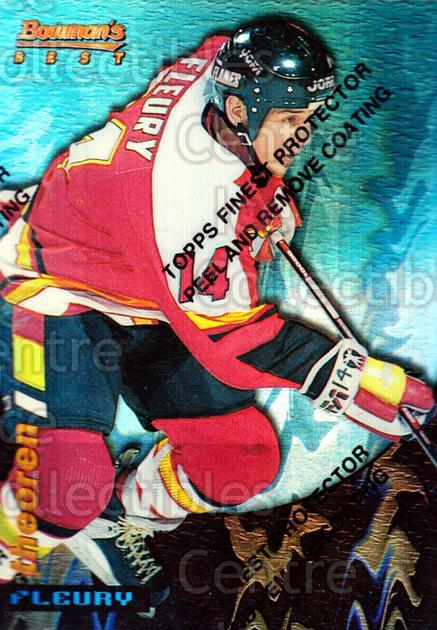 1994-95 Finest Bowmans Best Blue Refractors #4 Theo Fleury<br/>3 In Stock - $5.00 each - <a href=https://centericecollectibles.foxycart.com/cart?name=1994-95%20Finest%20Bowmans%20Best%20Blue%20Refractors%20%234%20Theo%20Fleury...&quantity_max=3&price=$5.00&code=306070 class=foxycart> Buy it now! </a>