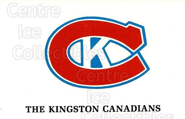 1981-82 Kingston Canadians #1 Kingston Canadians<br/>2 In Stock - $3.00 each - <a href=https://centericecollectibles.foxycart.com/cart?name=1981-82%20Kingston%20Canadians%20%231%20Kingston%20Canadi...&quantity_max=2&price=$3.00&code=30610 class=foxycart> Buy it now! </a>