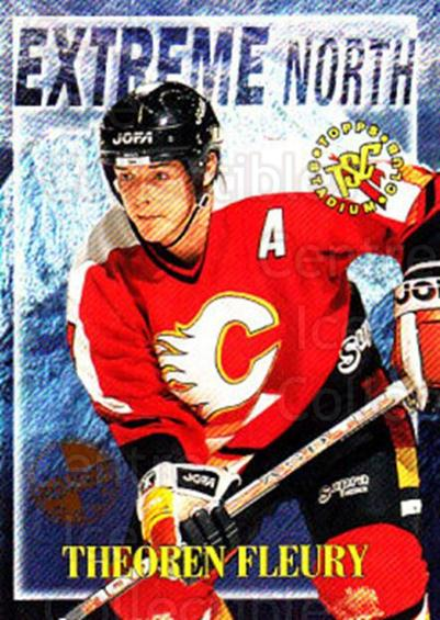 1995-96 Stadium Club Extreme North Members Only #5 Theo Fleury<br/>1 In Stock - $5.00 each - <a href=https://centericecollectibles.foxycart.com/cart?name=1995-96%20Stadium%20Club%20Extreme%20North%20Members%20Only%20%235%20Theo%20Fleury...&quantity_max=1&price=$5.00&code=306191 class=foxycart> Buy it now! </a>