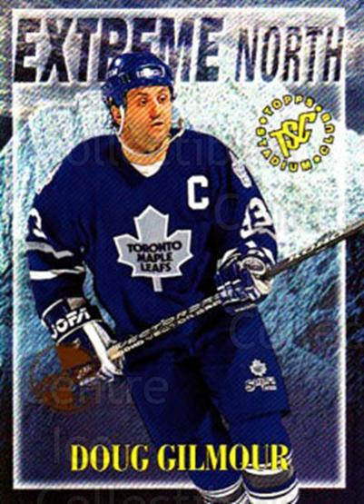 1995-96 Stadium Club Extreme North Members Only #8 Doug Gilmour<br/>4 In Stock - $5.00 each - <a href=https://centericecollectibles.foxycart.com/cart?name=1995-96%20Stadium%20Club%20Extreme%20North%20Members%20Only%20%238%20Doug%20Gilmour...&quantity_max=4&price=$5.00&code=306193 class=foxycart> Buy it now! </a>