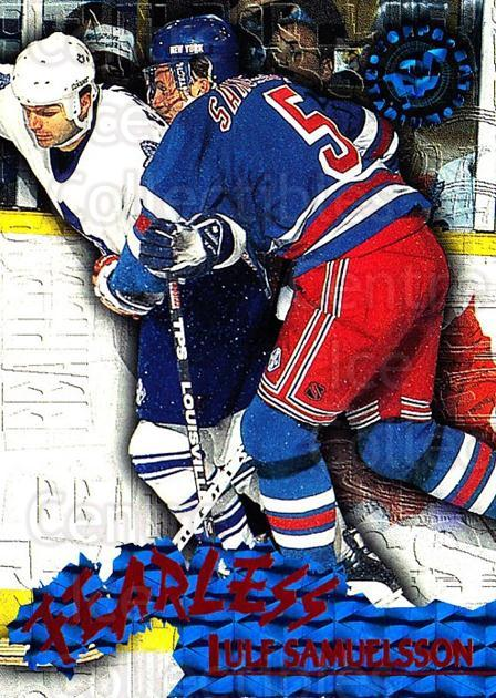 1995-96 Stadium Club Fearless #7 Ulf Samuelsson<br/>1 In Stock - $3.00 each - <a href=https://centericecollectibles.foxycart.com/cart?name=1995-96%20Stadium%20Club%20Fearless%20%237%20Ulf%20Samuelsson...&quantity_max=1&price=$3.00&code=306197 class=foxycart> Buy it now! </a>