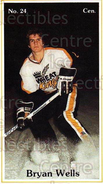 1983-84 Brandon Wheat Kings #1 Bryan Wells<br/>2 In Stock - $3.00 each - <a href=https://centericecollectibles.foxycart.com/cart?name=1983-84%20Brandon%20Wheat%20Kings%20%231%20Bryan%20Wells...&quantity_max=2&price=$3.00&code=30622 class=foxycart> Buy it now! </a>