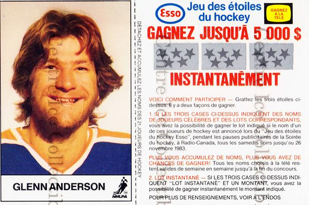 1983-84 Esso French #1 Glenn Anderson<br/>2 In Stock - $3.00 each - <a href=https://centericecollectibles.foxycart.com/cart?name=1983-84%20Esso%20French%20%231%20Glenn%20Anderson...&quantity_max=2&price=$3.00&code=30624 class=foxycart> Buy it now! </a>
