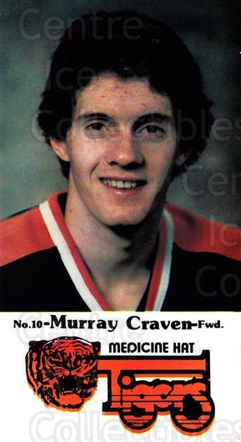 1983-84 Medicine Hat Tigers #1 Murray Craven<br/>1 In Stock - $3.00 each - <a href=https://centericecollectibles.foxycart.com/cart?name=1983-84%20Medicine%20Hat%20Tigers%20%231%20Murray%20Craven...&quantity_max=1&price=$3.00&code=30625 class=foxycart> Buy it now! </a>