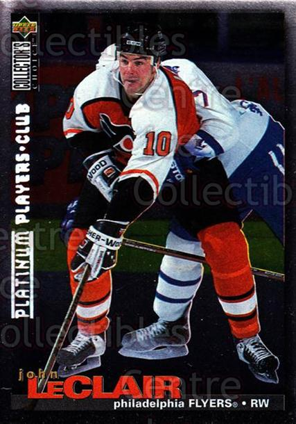 1995-96 Collectors Choice Players Club Platinum #261 John Leclair<br/>10 In Stock - $3.00 each - <a href=https://centericecollectibles.foxycart.com/cart?name=1995-96%20Collectors%20Choice%20Players%20Club%20Platinum%20%23261%20John%20Leclair...&quantity_max=10&price=$3.00&code=306292 class=foxycart> Buy it now! </a>
