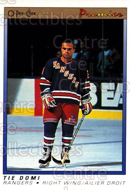 1990-91 OPC Premier #25 Tie Domi<br/>4 In Stock - $1.00 each - <a href=https://centericecollectibles.foxycart.com/cart?name=1990-91%20OPC%20Premier%20%2325%20Tie%20Domi...&price=$1.00&code=306338 class=foxycart> Buy it now! </a>