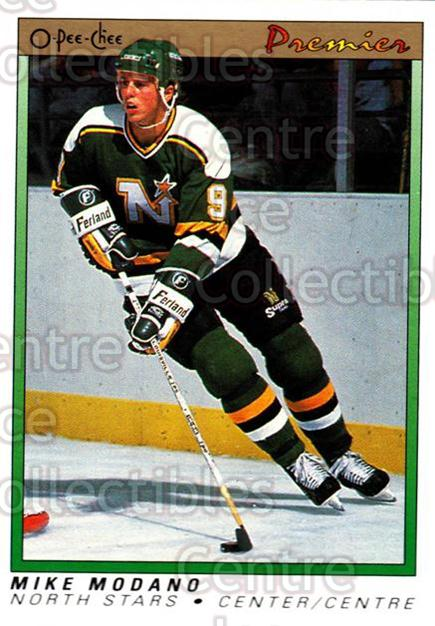 1990-91 OPC Premier #74 Mike Modano<br/>2 In Stock - $5.00 each - <a href=https://centericecollectibles.foxycart.com/cart?name=1990-91%20OPC%20Premier%20%2374%20Mike%20Modano...&quantity_max=2&price=$5.00&code=306340 class=foxycart> Buy it now! </a>